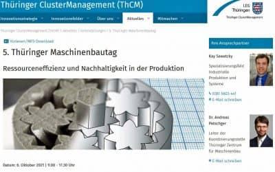 Keynote Sendler At Thuringian Mechanical Engineering Day